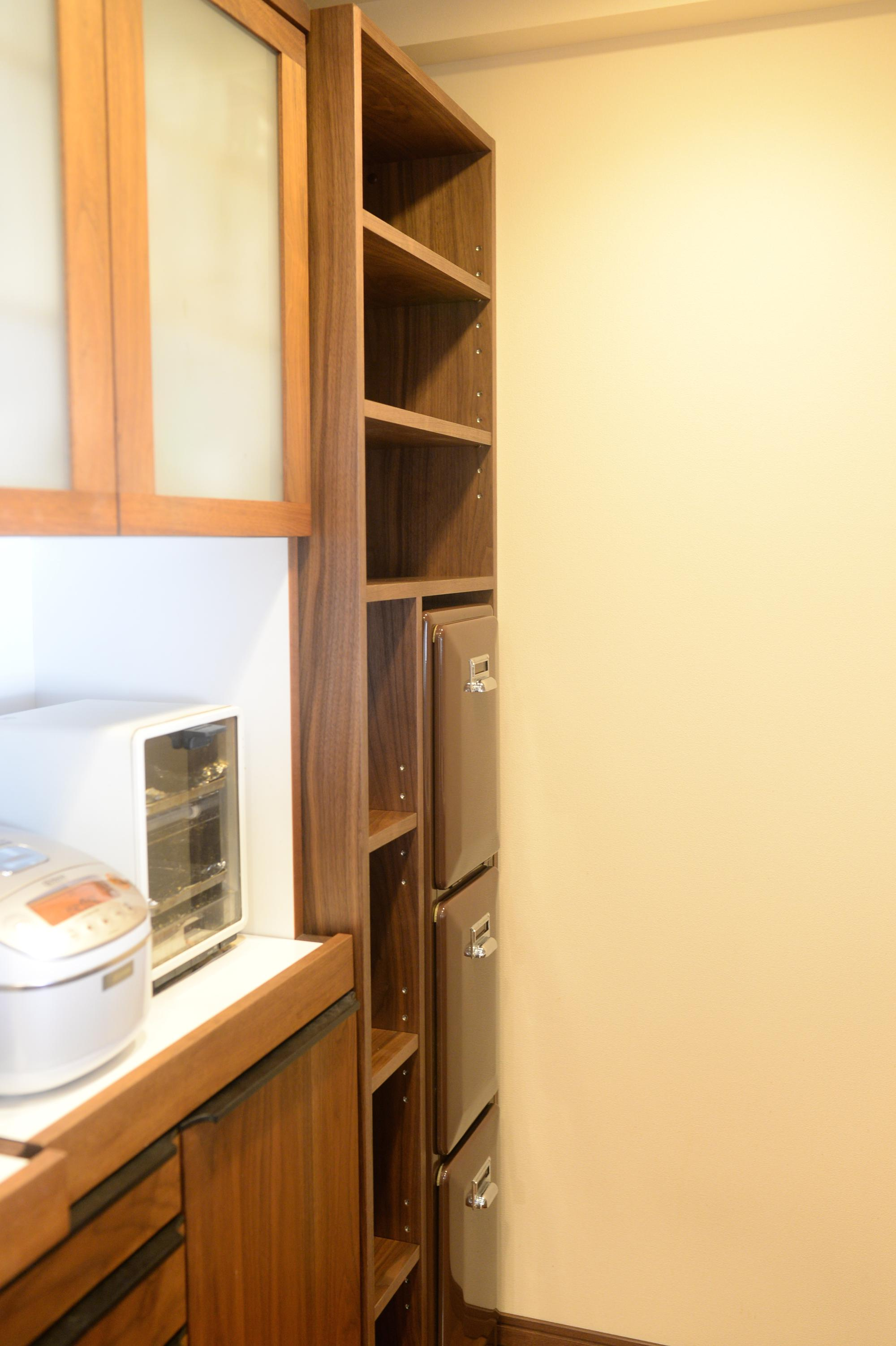 食器棚 ウォールナット オーダー