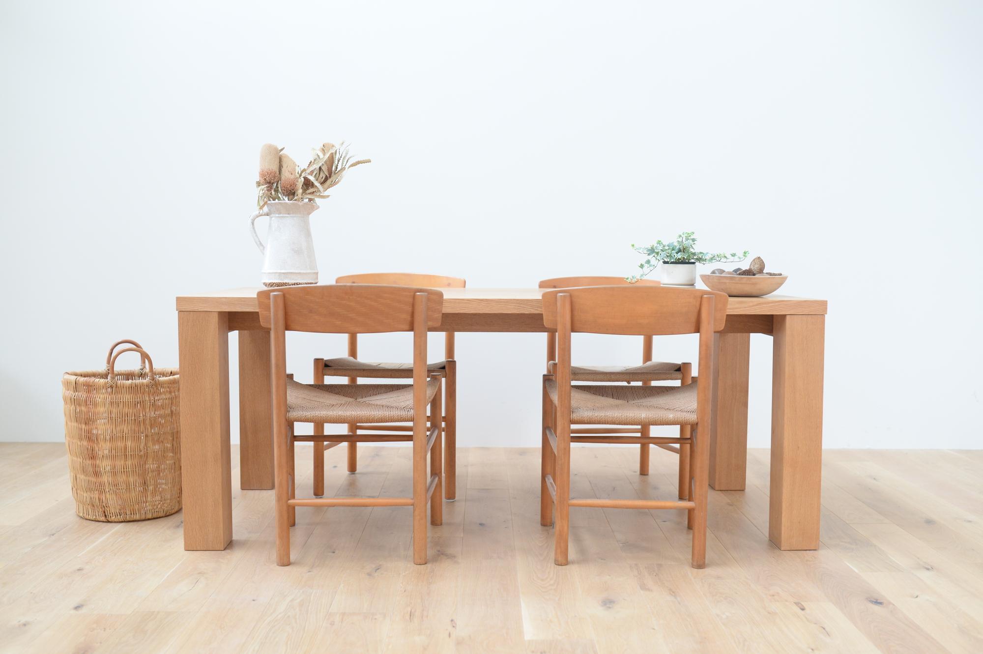 無垢 シンプル ダイニングテーブル