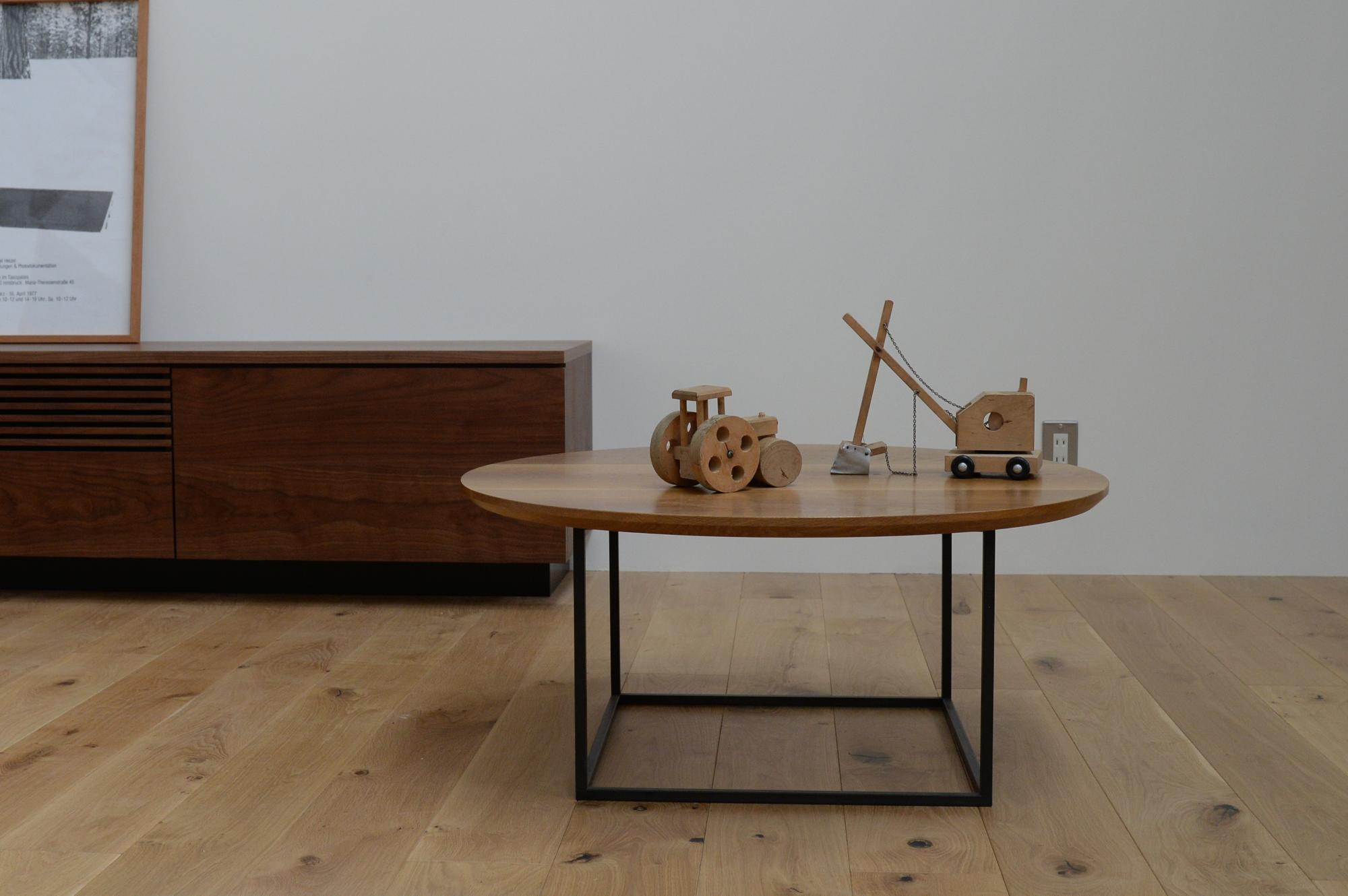 ローテーブル 丸 無垢材 サイドテーブル ソファーテーブル