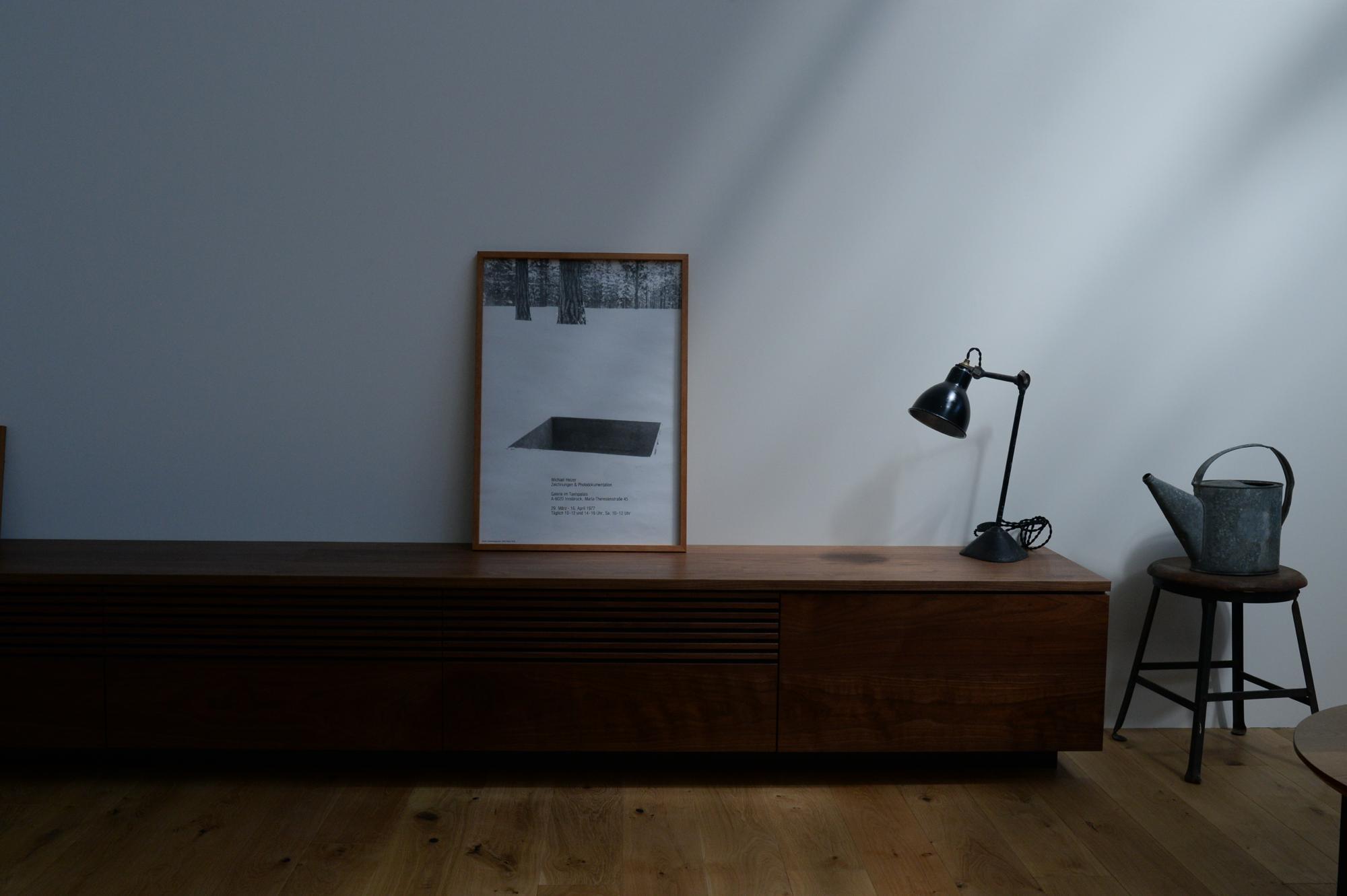 オーダー家具 無垢材 ウォールナット テレビボード