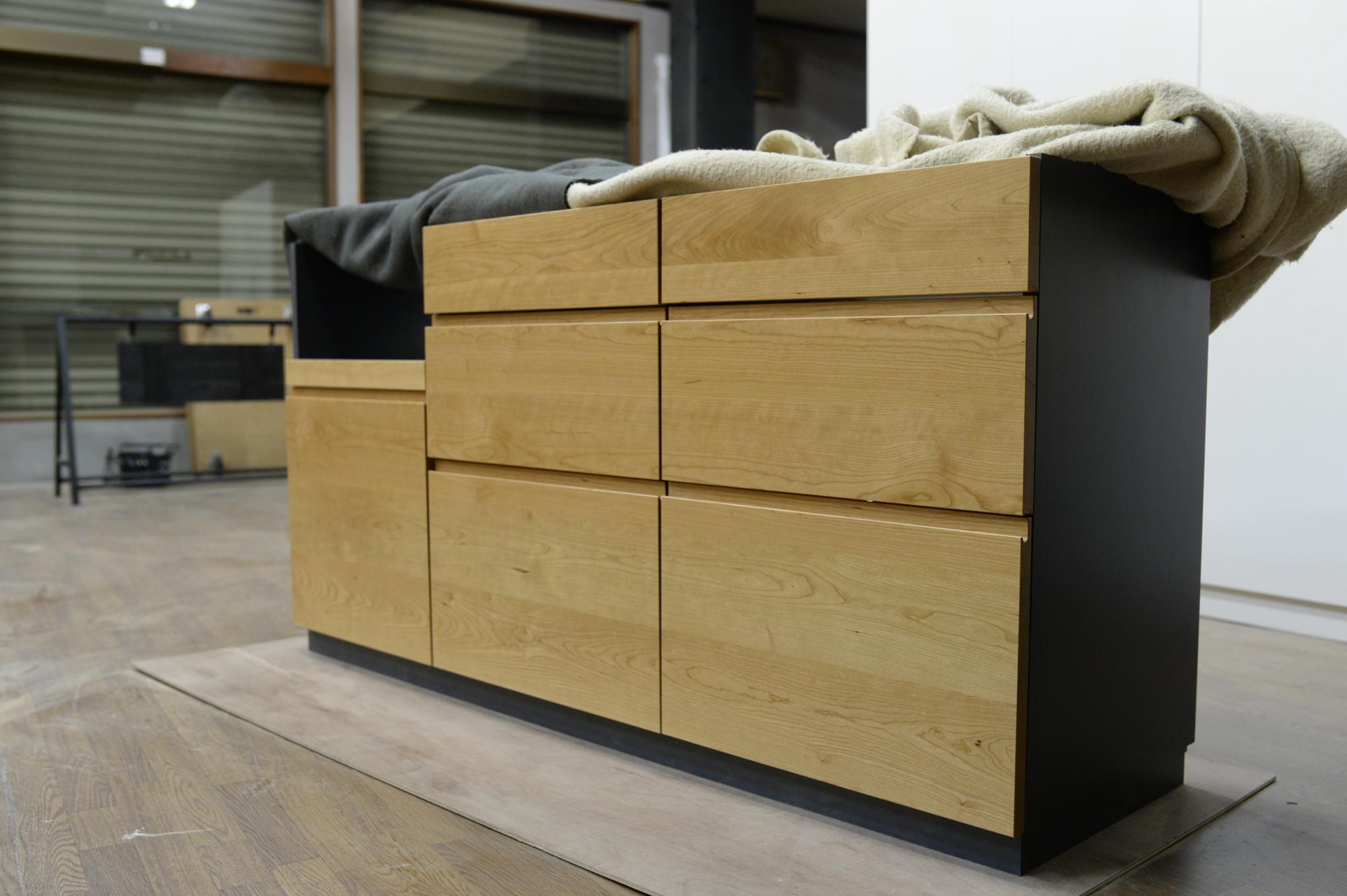オーダー家具 製作 チェリー 食器棚
