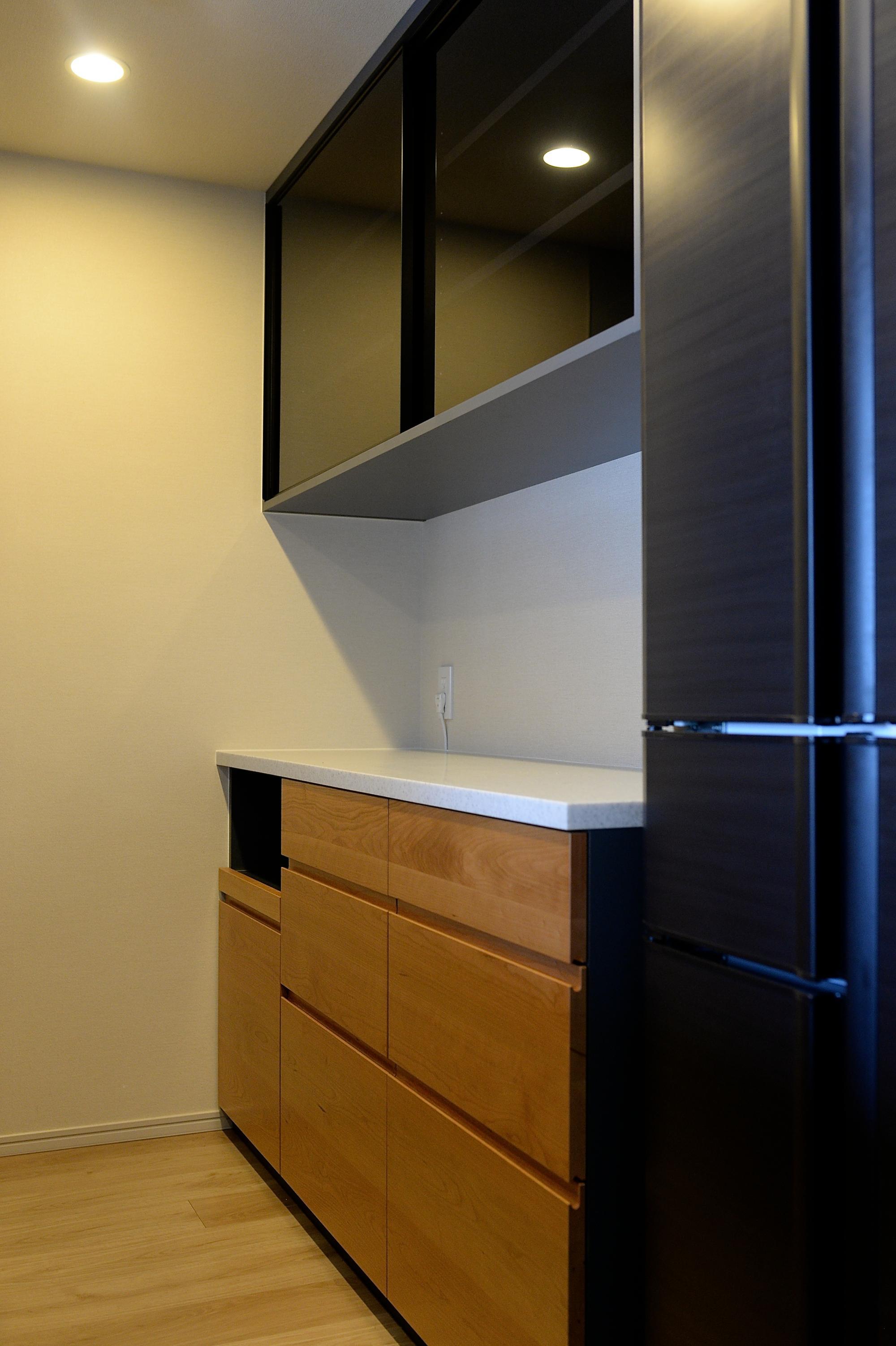チェリー 食器棚 マンション walden オーダー家具