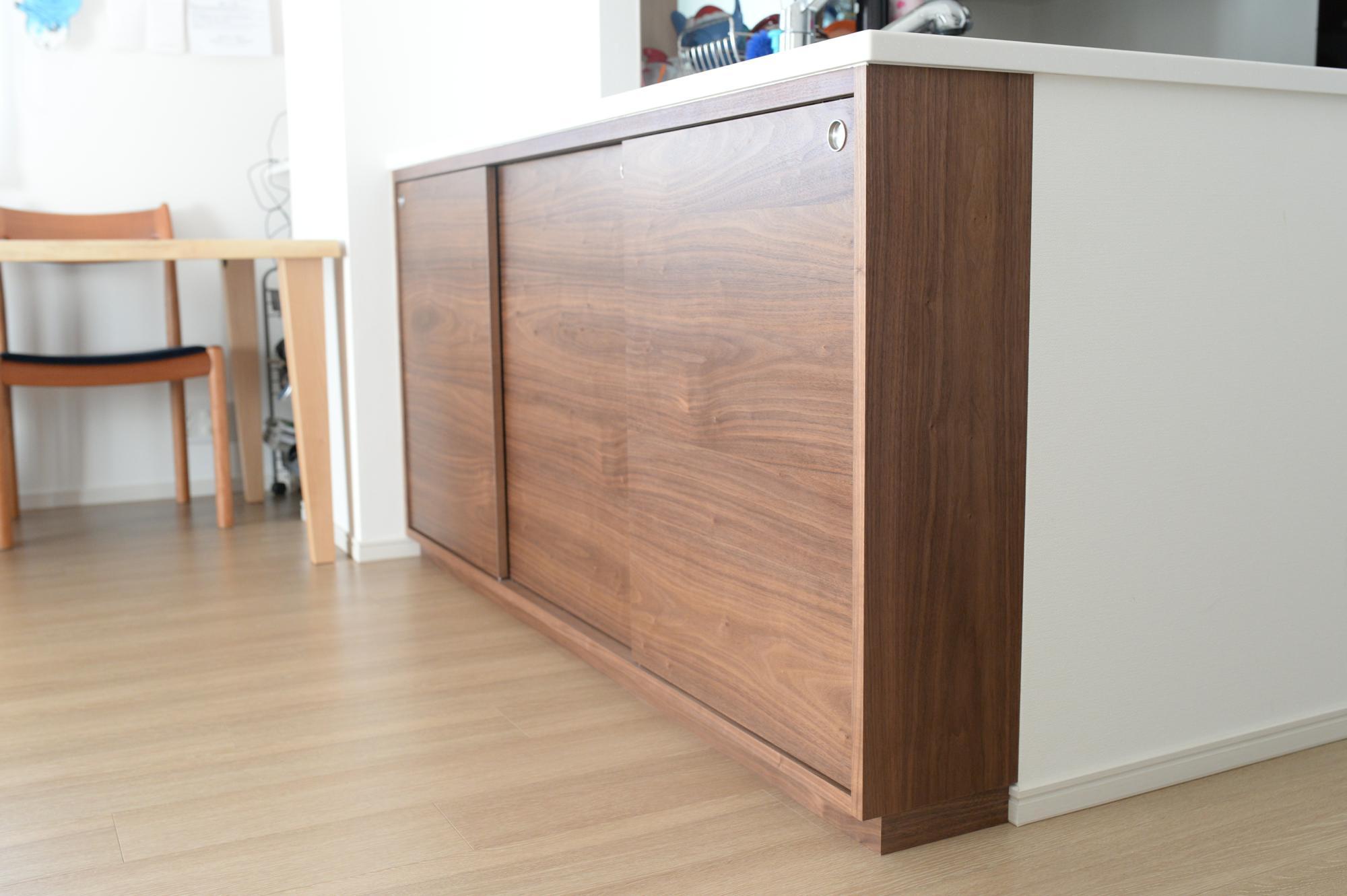 オーダー家具 カウンター下収納 食器棚