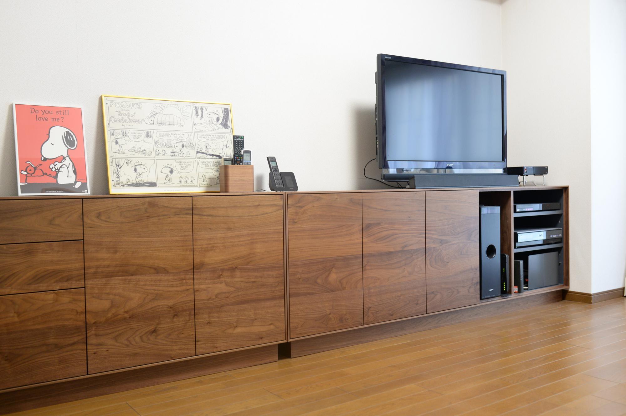 オーダー家具 リビングボード キャビネット サイドボード