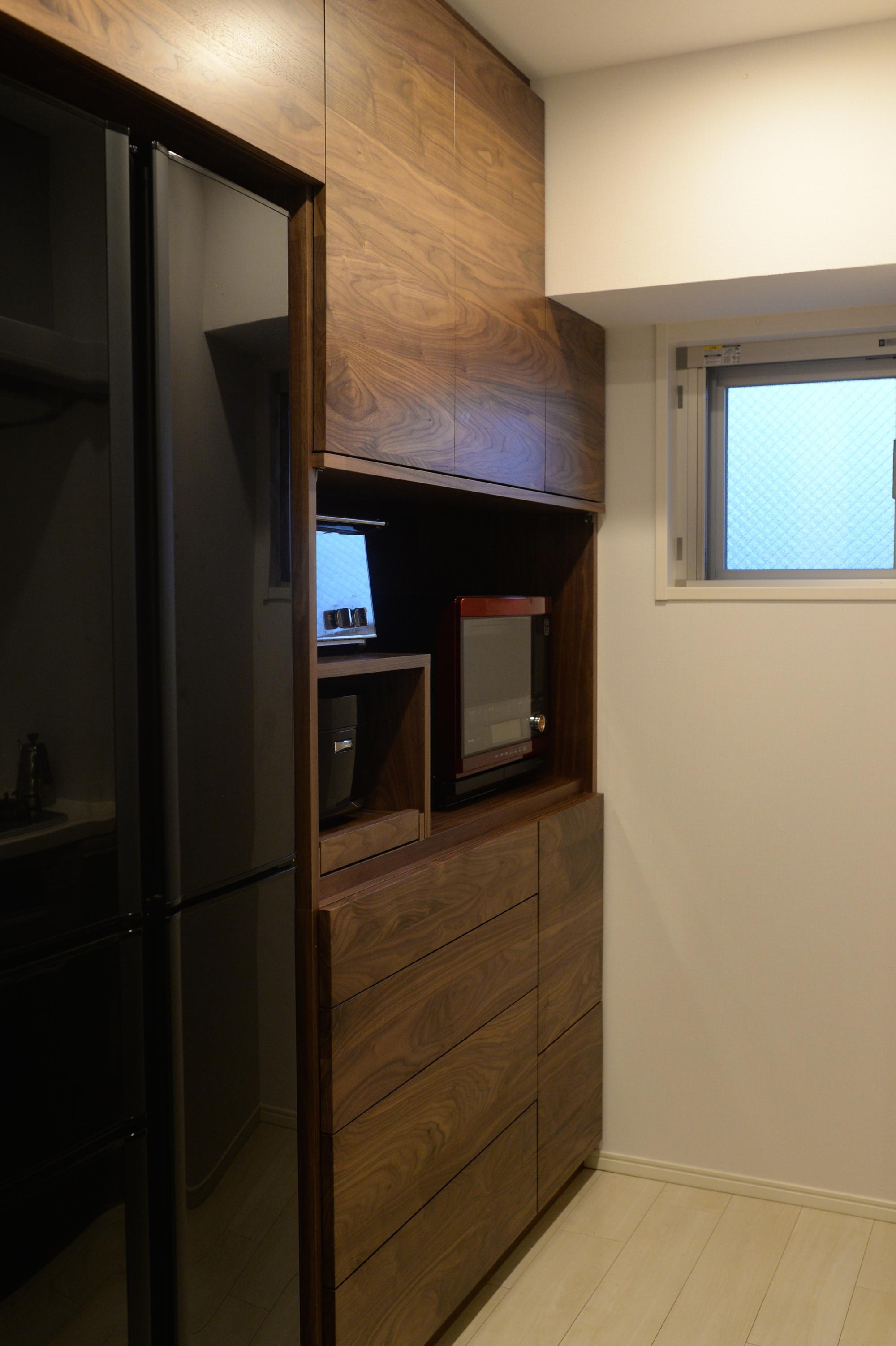 ウォールナット 食器棚 カップボード オーダー家具 オプション家具