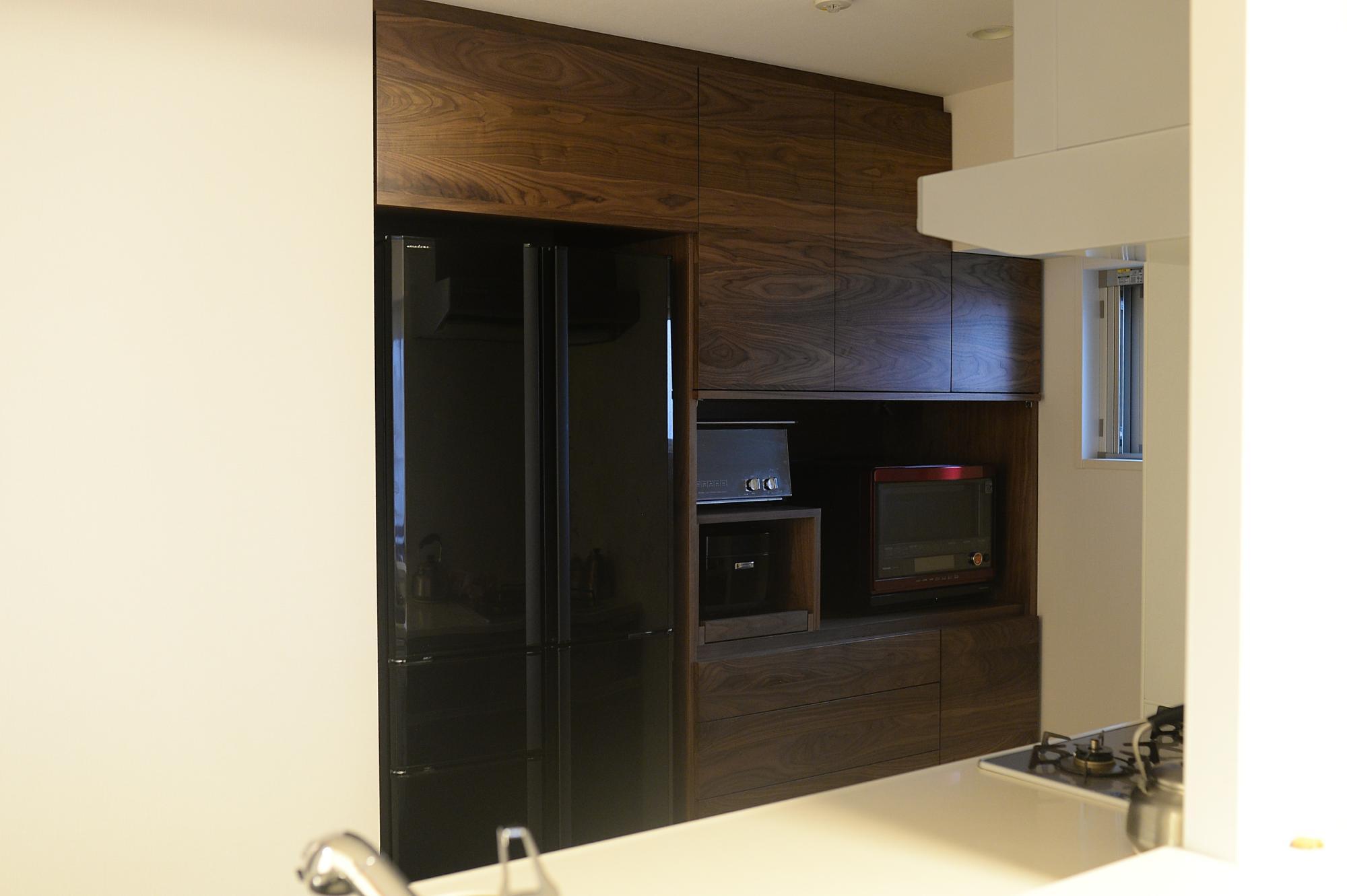 ウォールナット 食器棚 オーダー家具