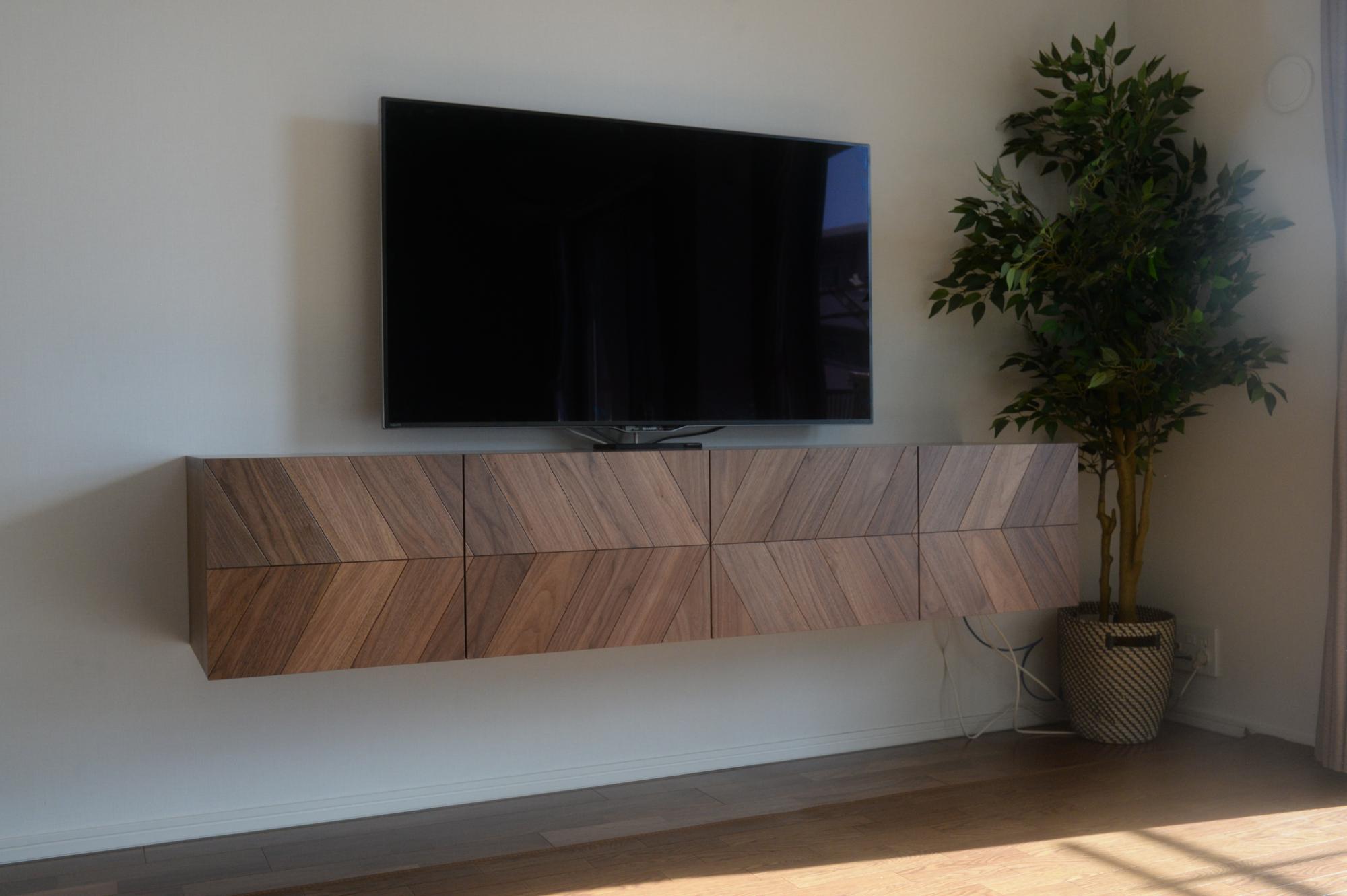 ヘリンボーン テレビボード オーダー家具