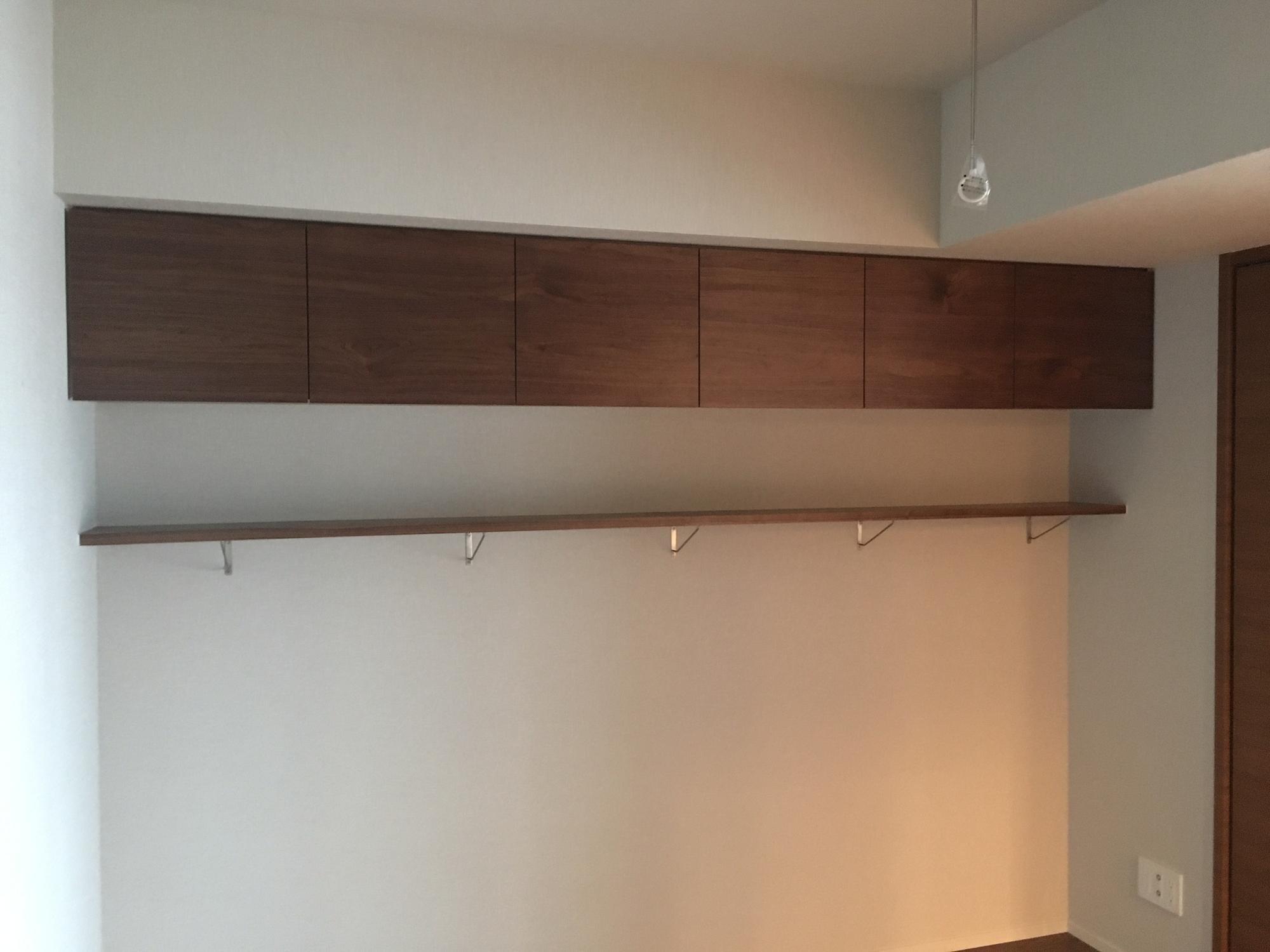 ウォールナット 吊り戸棚 オーダー家具