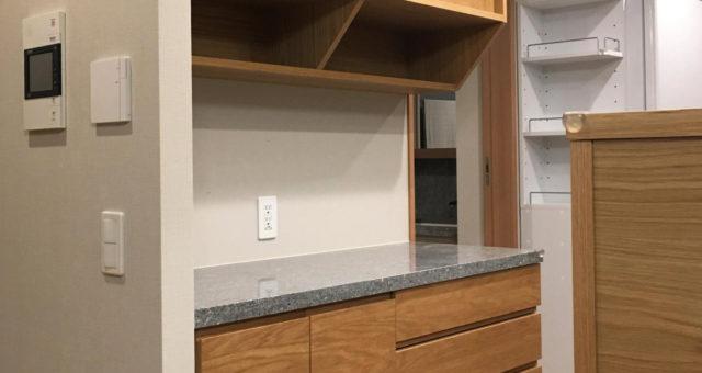 食器棚、カウンター収納、テレビボードの納品(杉並区N邸)