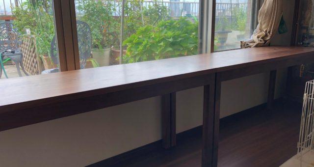カウンターテーブルの納品(八王子市W邸)