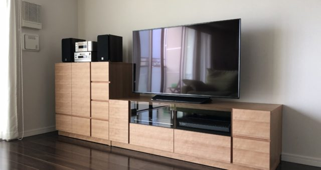 テレビボード、レコード収納の納品 豊島区U邸