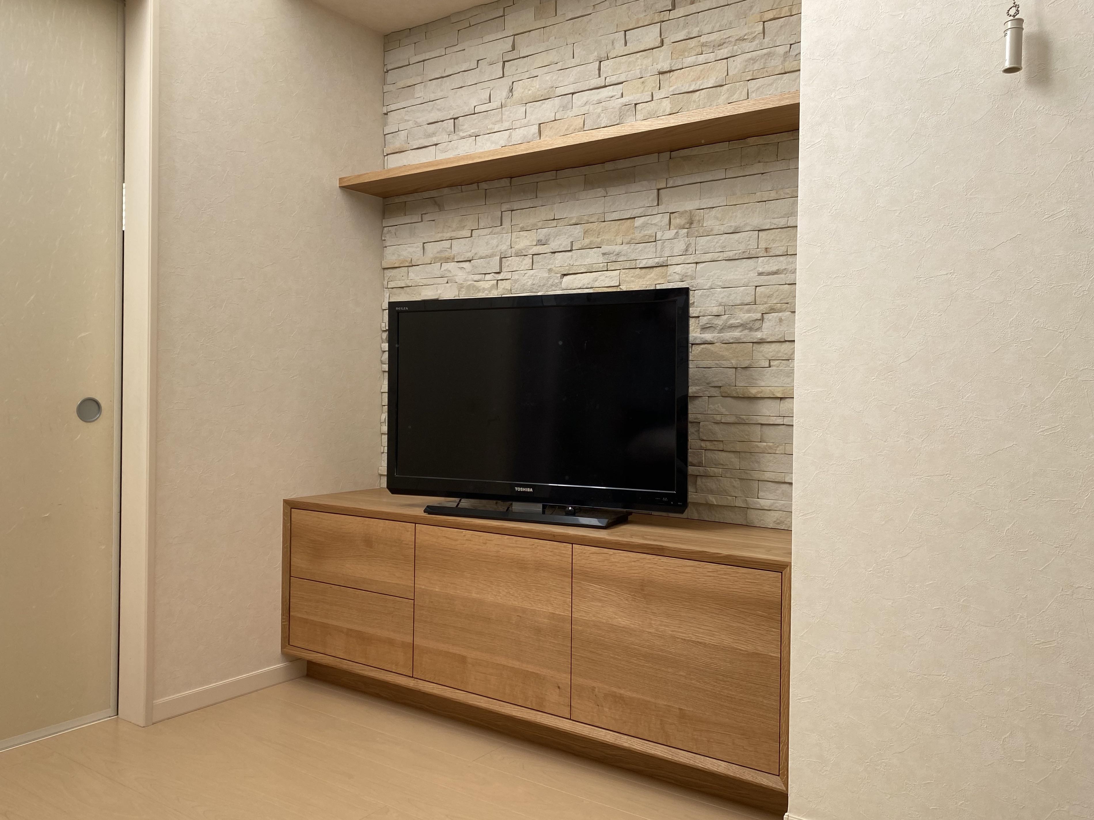 テレビボード 無垢 オーダー家具 オーダーテレビボード