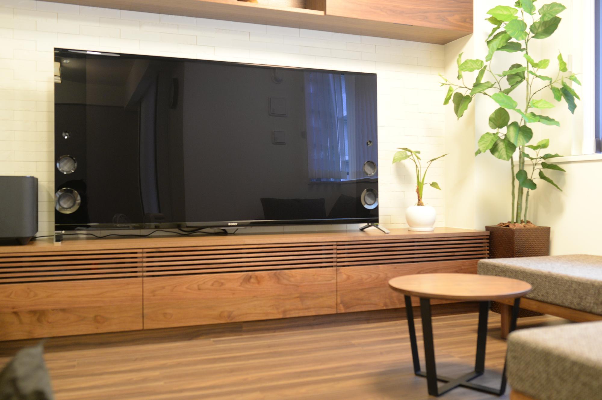 オーダーテレビボード設置